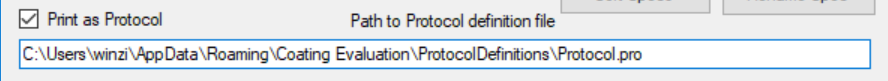 Path to protocol definition file